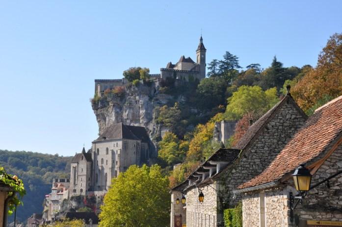 Rocamdour - le château vu depuis la porte Figuier