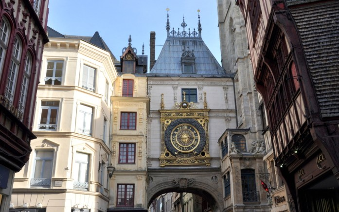 Un week-end à Rouen : arche du gros horloge