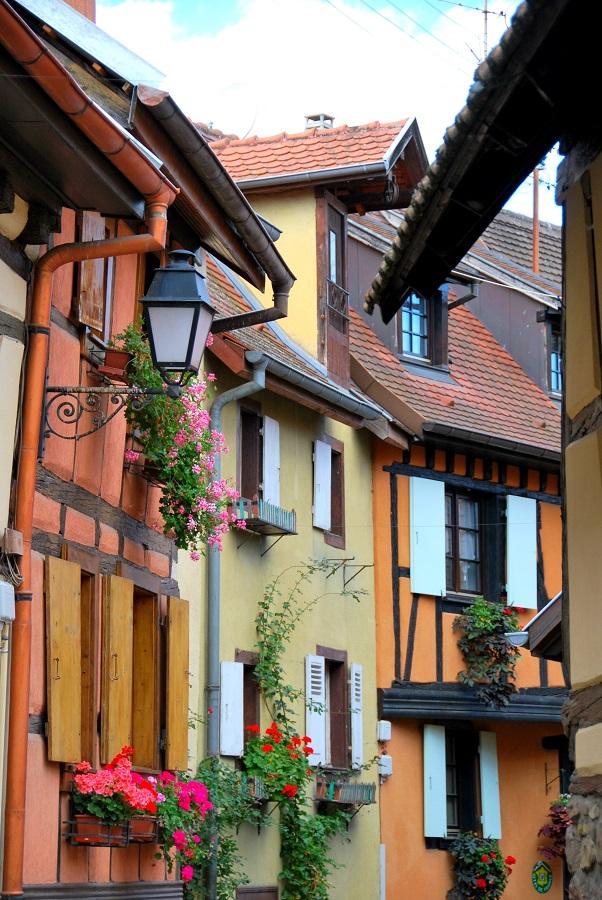 Découvrir Eguisheim en Alsace : maisons à colombages