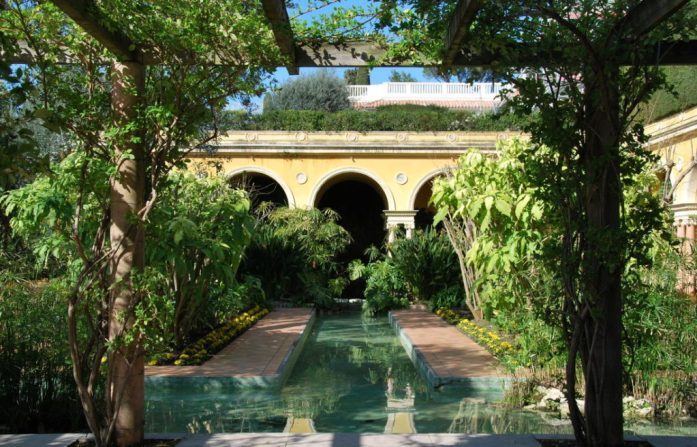 Cap Ferrat - jardin espagnol de la villa Ephrussi de Rothschild