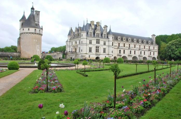Circuit des châteaux de la Loire - jardin de Catherine de Médicis à Chenonceau