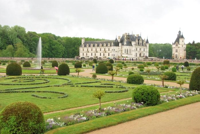 Circuit des châteaux de la Loire - jardin de Diane de Poitiers à Chenonceau