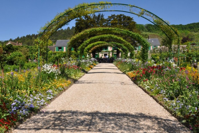 Jardin de Monet à Giverny - grande allée
