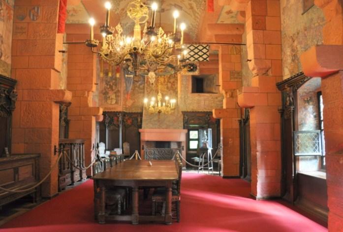 Le Haut Koenigsbourg en Alsace - salle de réception