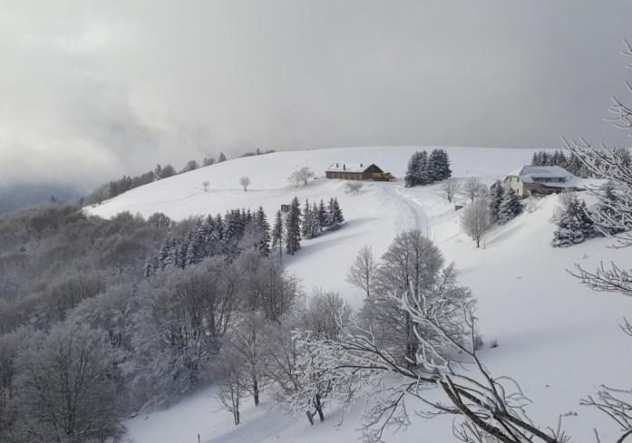 Du Haut Koenigsbourg à la route des Crêtes - la ferme du Markstein en hiver
