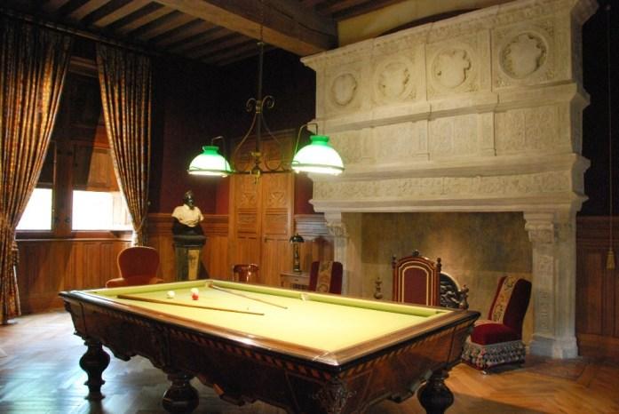 Château d'Azay-le-Rideau - la salle de billard