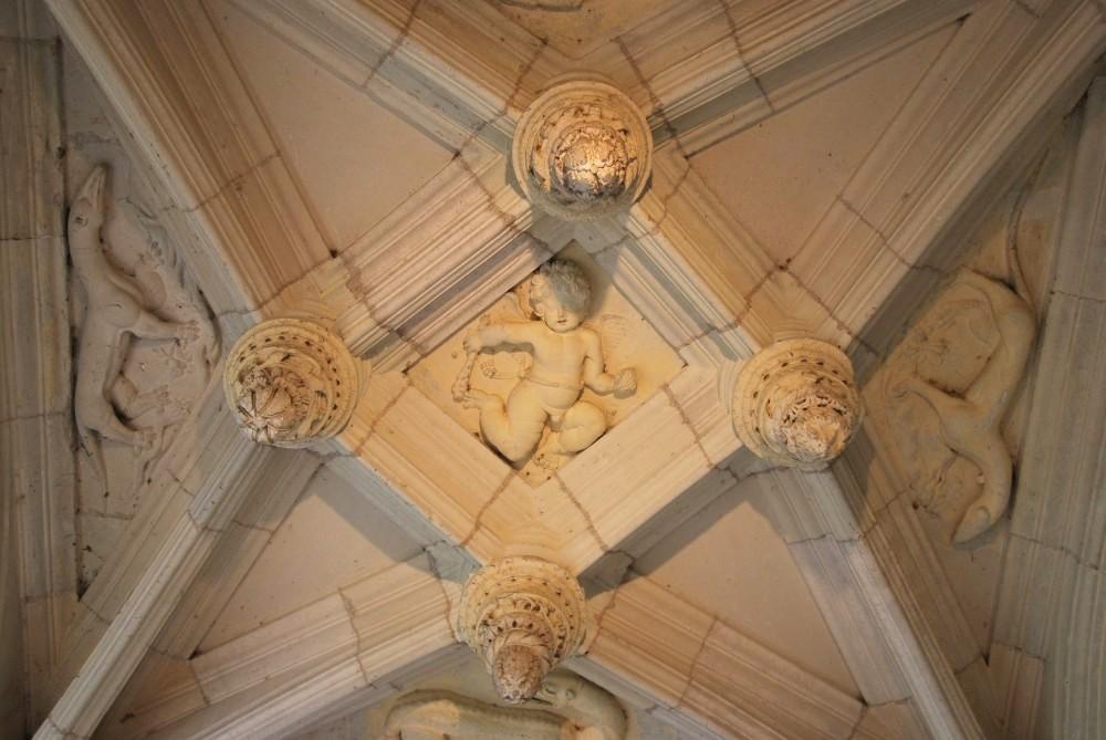 Château d'Azay-le-Rideau - plafond de l'escalier
