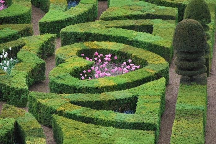 Jardins du château de Villandry - cœur des jardins d'amour