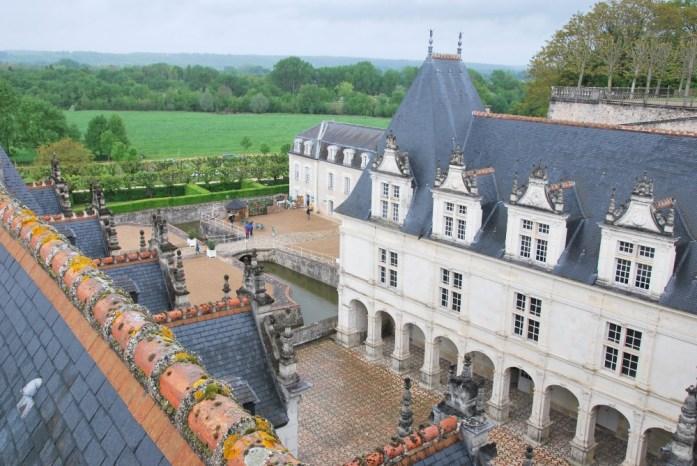 Château de Villandry - la cour d'honneur