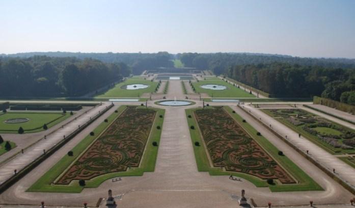 La Marinière en Voyage - Perspective du parc de Vaux le Vicomte