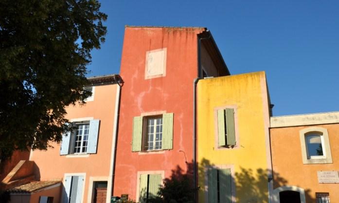 Maisons colorées de Roussillon