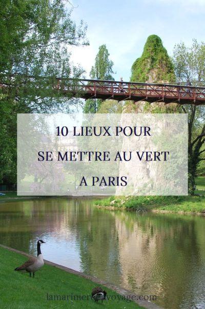 Se mettre au vert à Paris