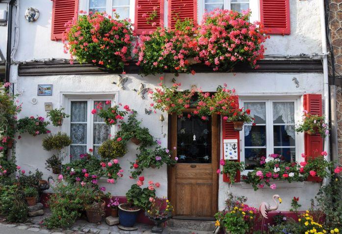 Maisons fleuries au Courtgrain à Saint Valéry sur Somme