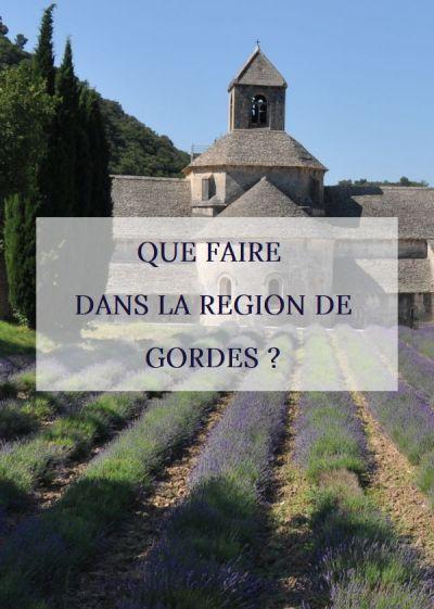 Que faire dans la région de Gordes ?