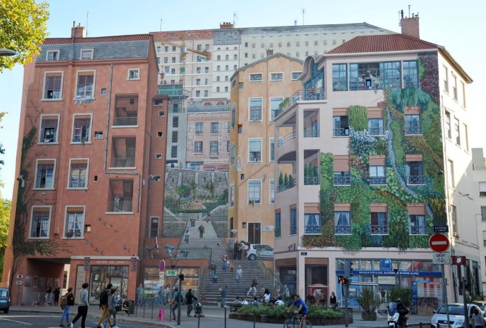 Week-end à Lyon : fresque des Canuts