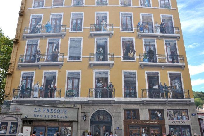 Week-end à Lyon : fresque des Lyonnais