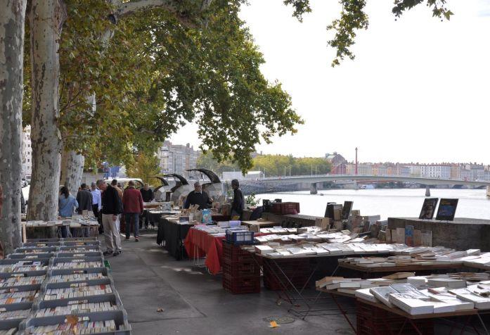 Week-end à Lyon : les bouquinistes des quais de Saône