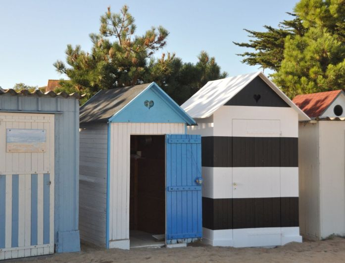 Île d'Oléron : les cabines de plage à la Boirie