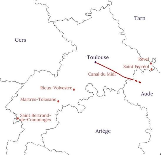 Carte de la Haute Garonne