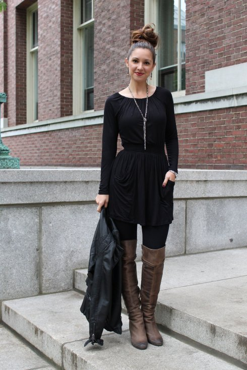 La Mariposa: Over-the-knee boots & fall layering