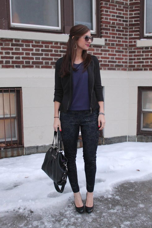 La Mariposa: Lace and leather Pants