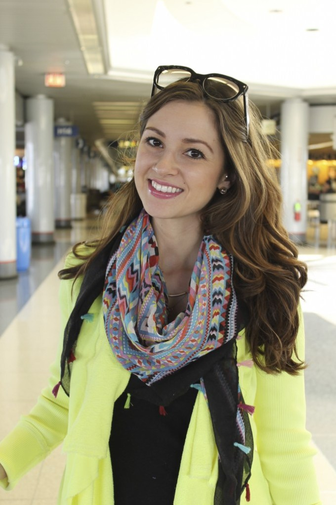 Airport Style: Ripped Jeans & Citrus Sweater