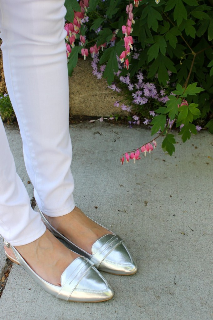 Marshalls FabFound silver loafers