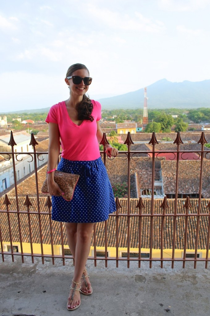 Pink & Blue/White Polka Dots: Summer Look by La Mariposa