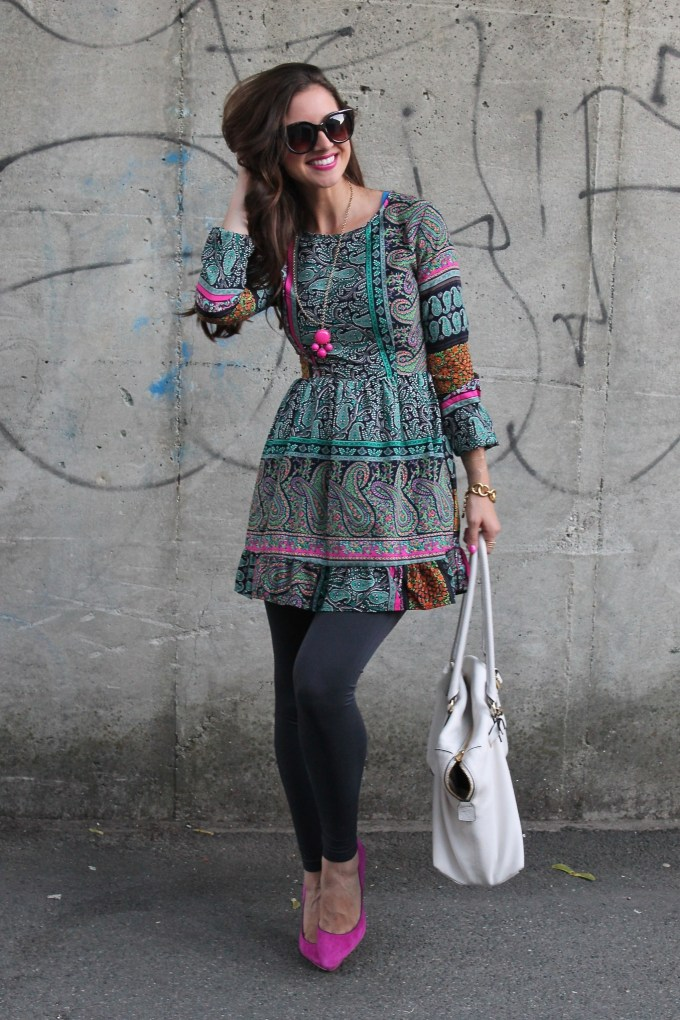 Pretty Peasant Dress with Ruffles and Pink