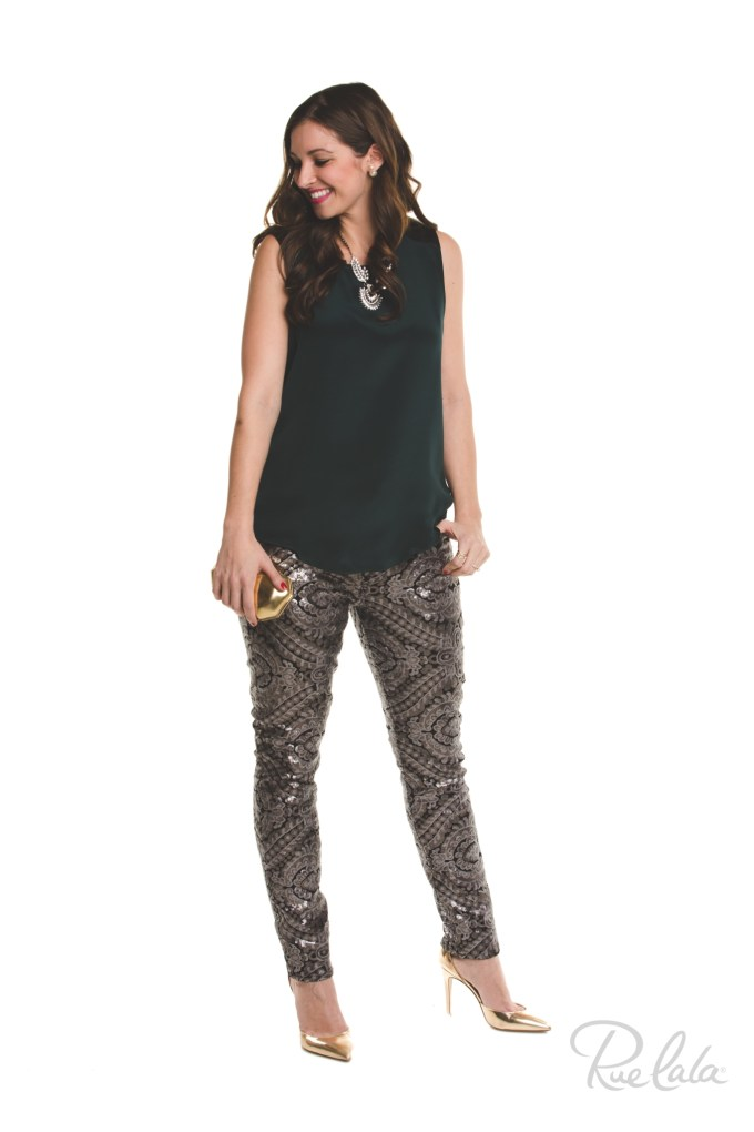 #RueHoliday- 7FAM Sequin Pants