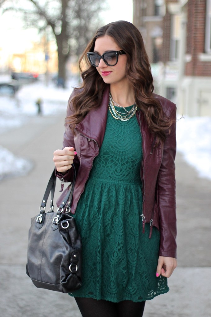 Emerald Lace, Burgundy Leather and OTK Boots