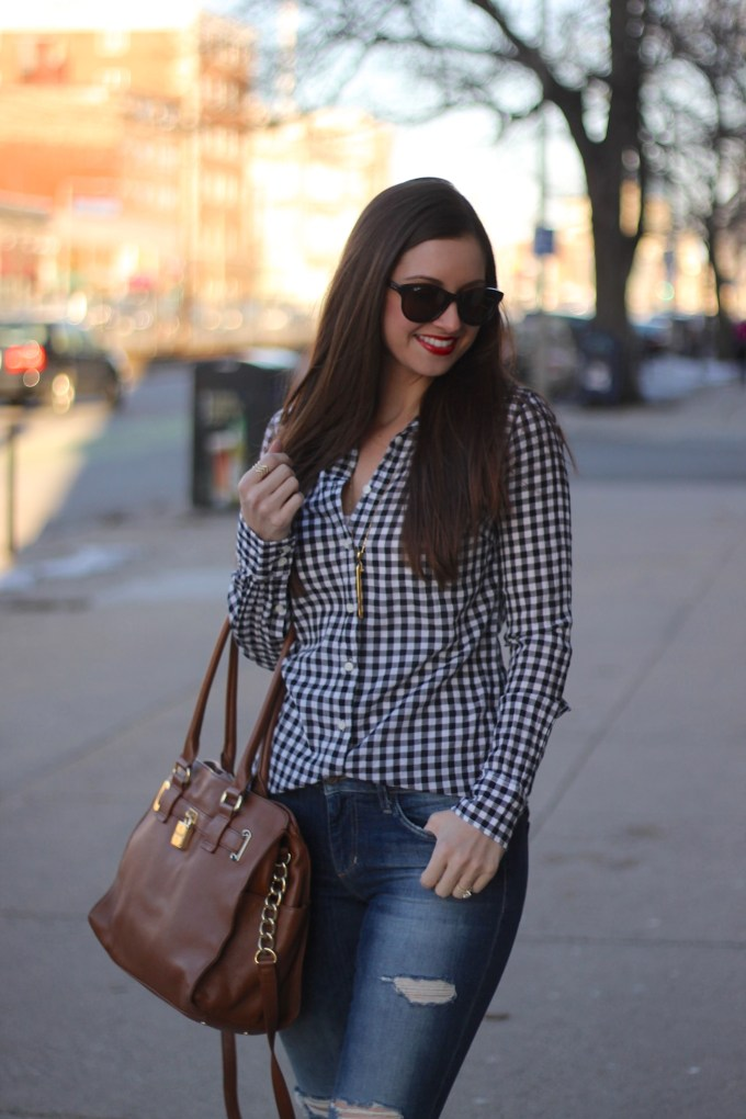 Gingham & leopard sneakers
