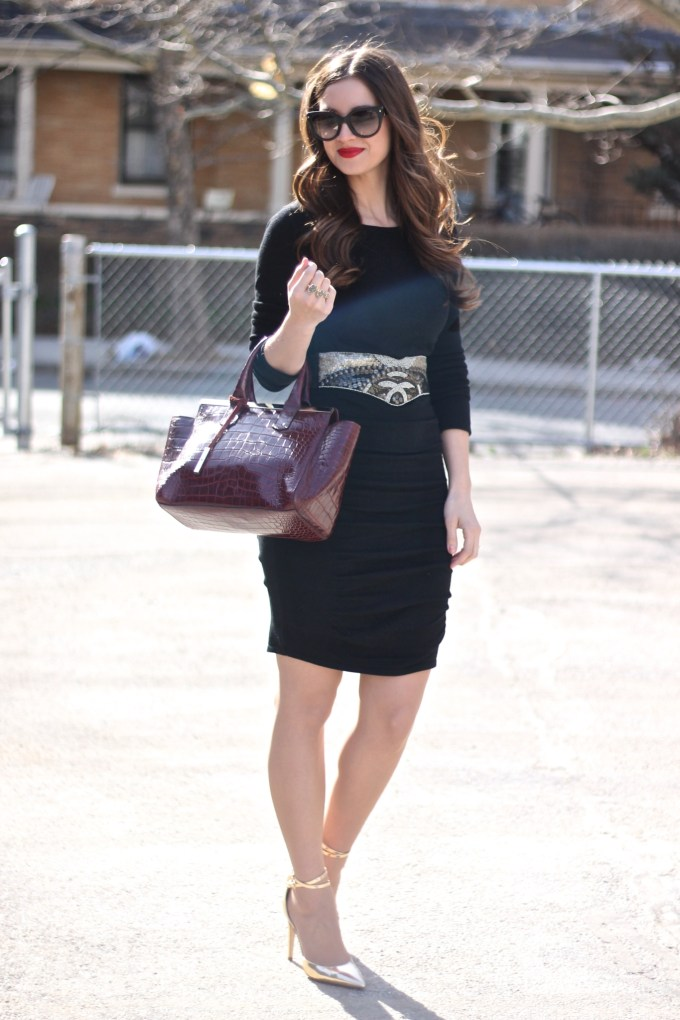 Express LBD and Beaded Belt