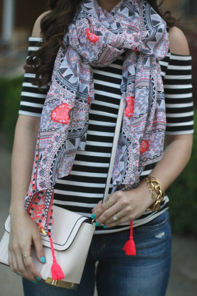Stripes and Paisley Print