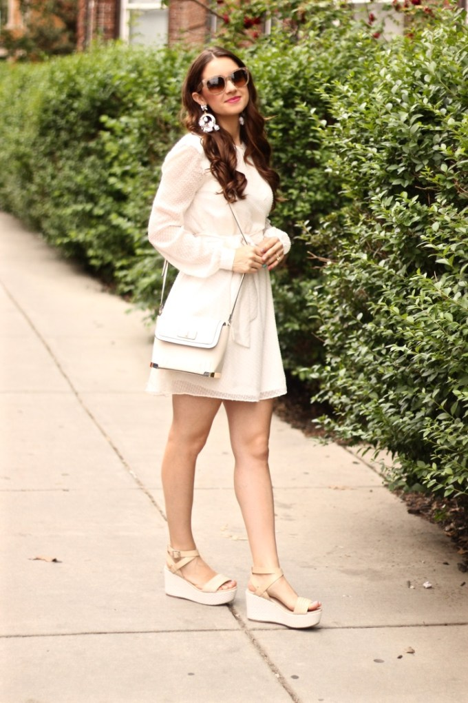 White Summer Wrap Dress