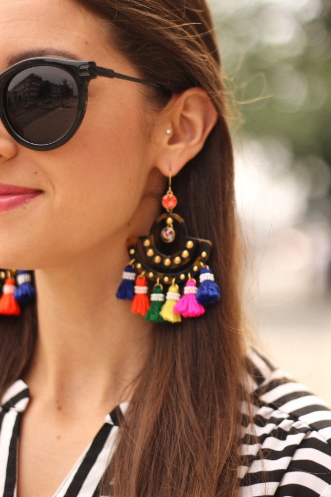 J.Crew Rainbow Tortoise Tassel Earrings