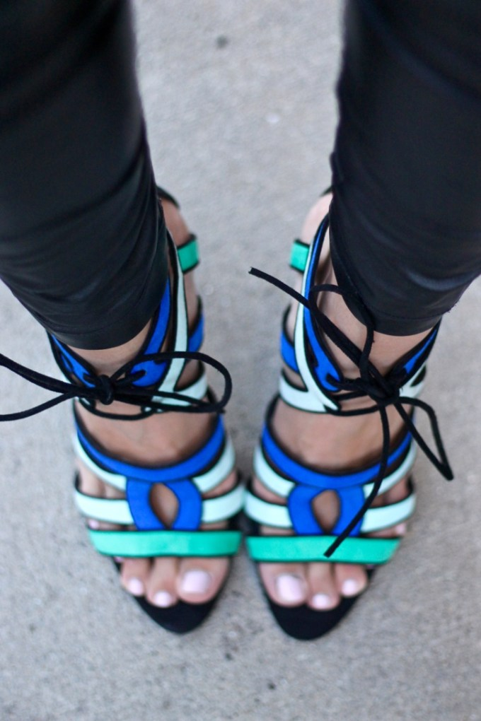 Zara Tri-colored Strappy pump
