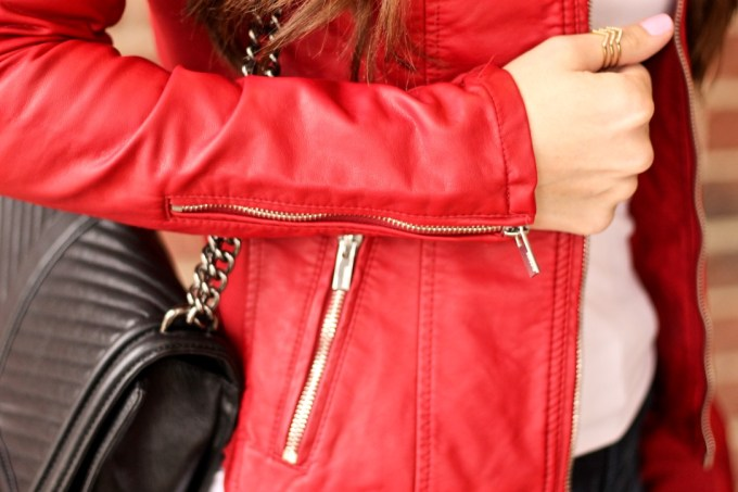 Red Leather Jacket, Express minus the leather jacket