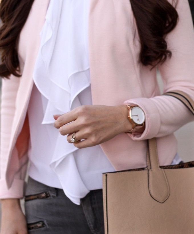 MVMT Watch in Peach Blush