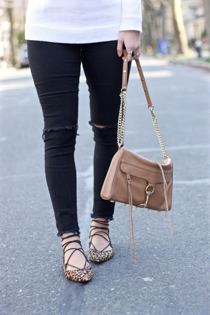 Strappy Zara Lace-up Leopard Animal hair Flats