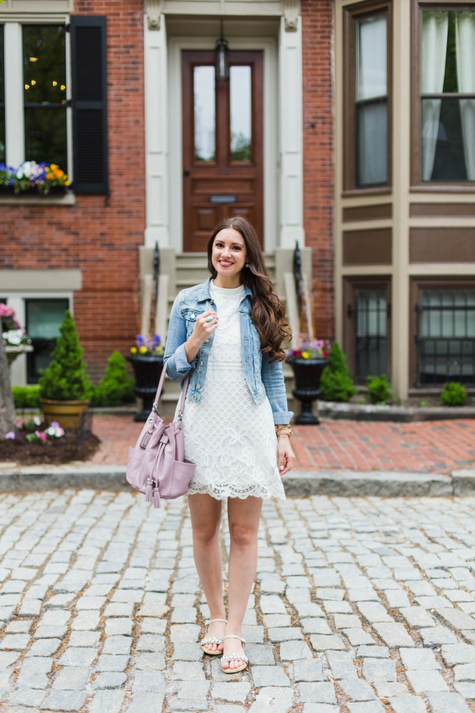 love, FIRE lace halter dress in Boston's South End