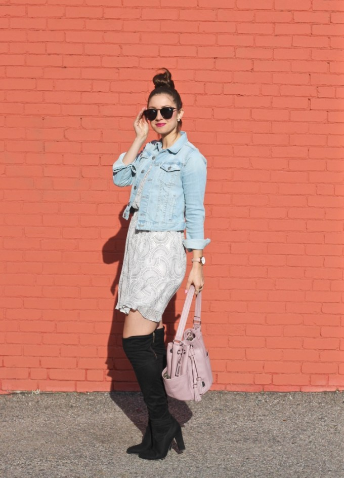 La Mariposa: Spring Transition Outfit, OTK Boots and Dress