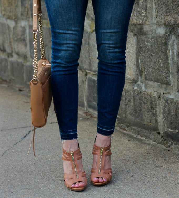 Strappy Zip-Up Heels
