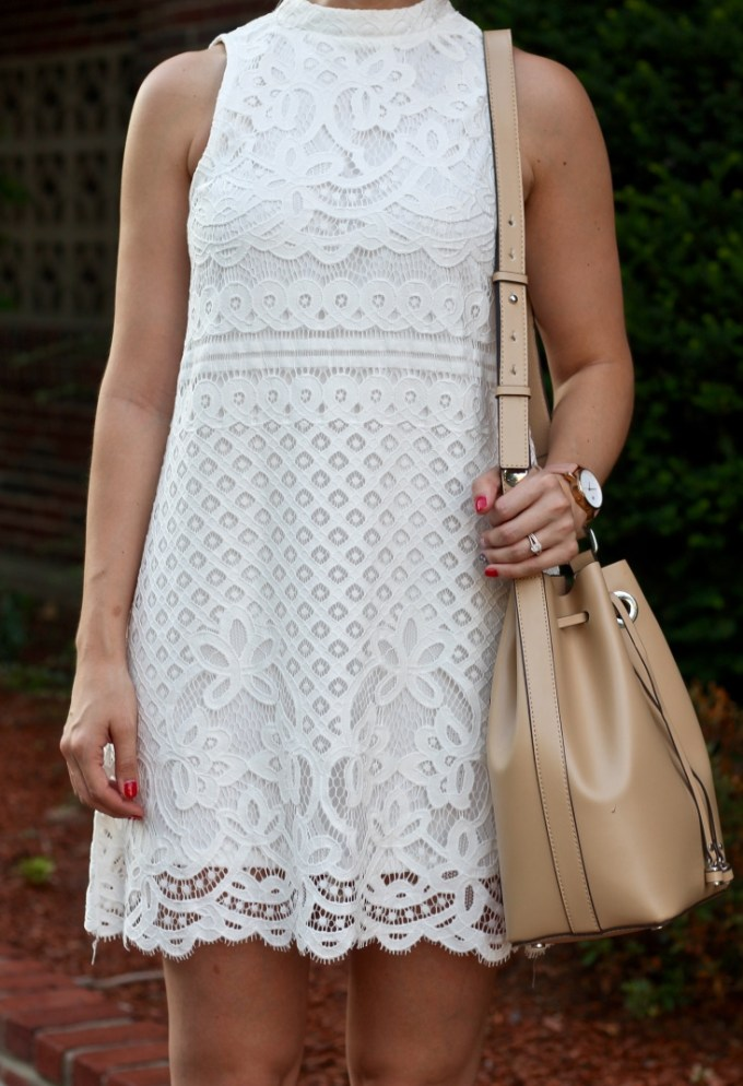 love, FiRE lave halter white scalloped dress