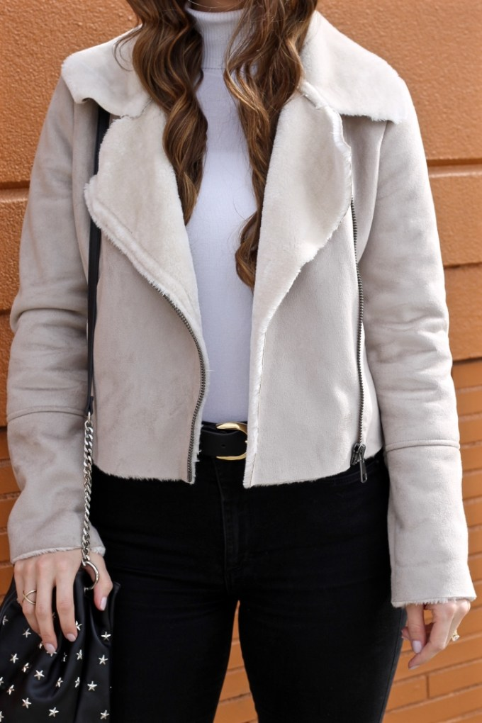 Shearling Lined Beige Jacket