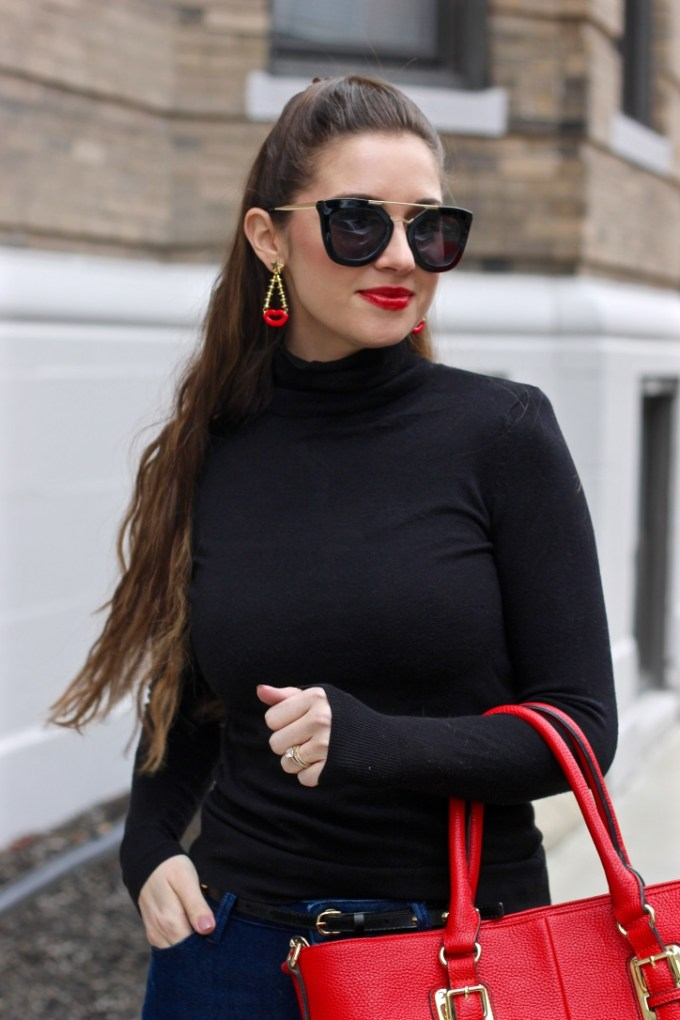 BaubleBar Rouge Drops, Red Lips Earrings,