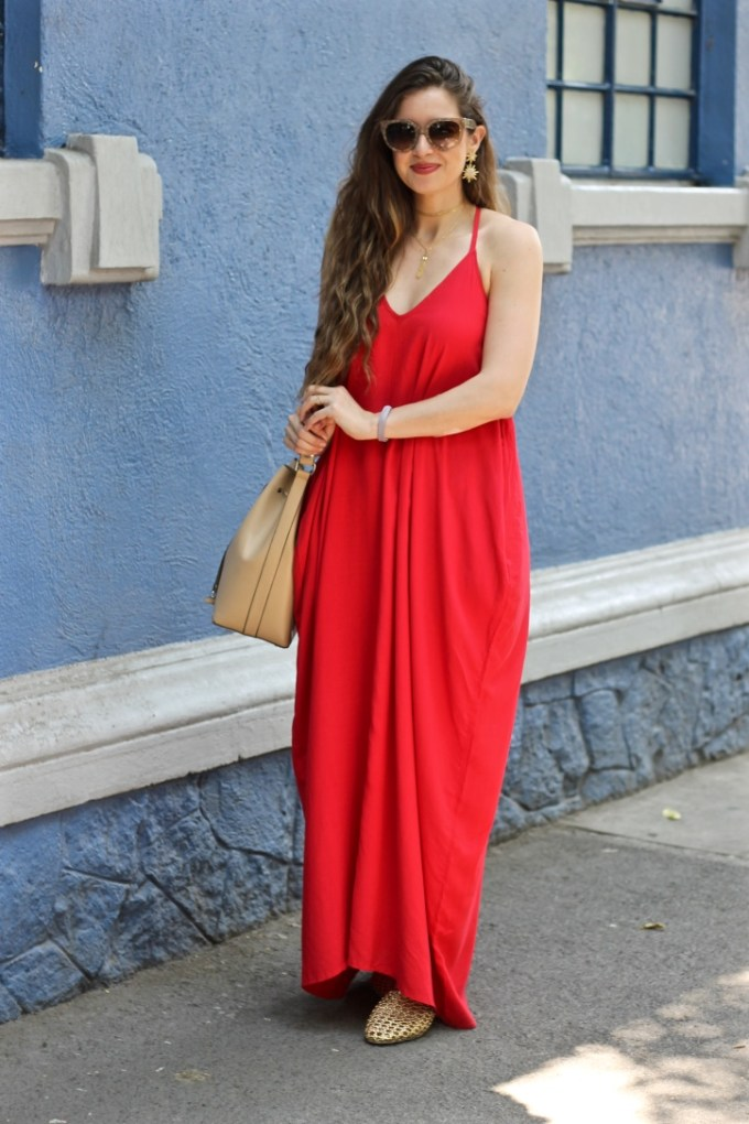Red Harem Maxi, BaubleBar Celestial Drops Star Earrings