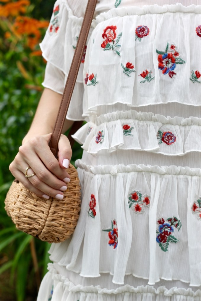 Zara Embroidered Mini Dress