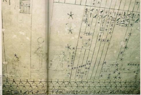 Tombe de Senmout, le plafond astronomique