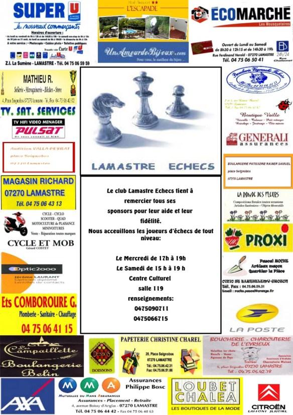 Les sponsors de Lamastre Echecs